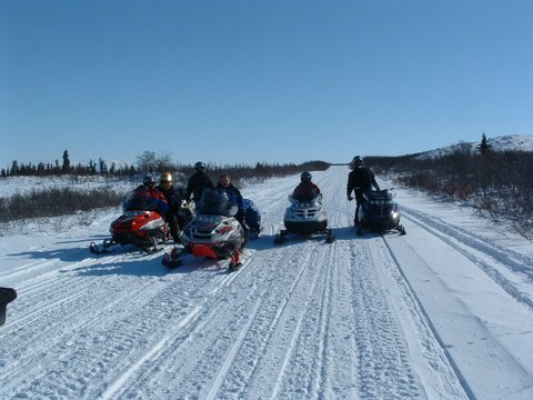 Bring your group for Winter Snowmobile trips!