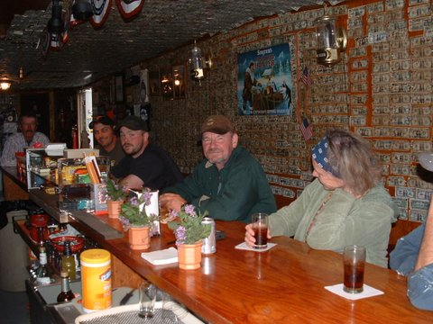 Stop in the Sluice Box Bar for drinks, pie and espresso.