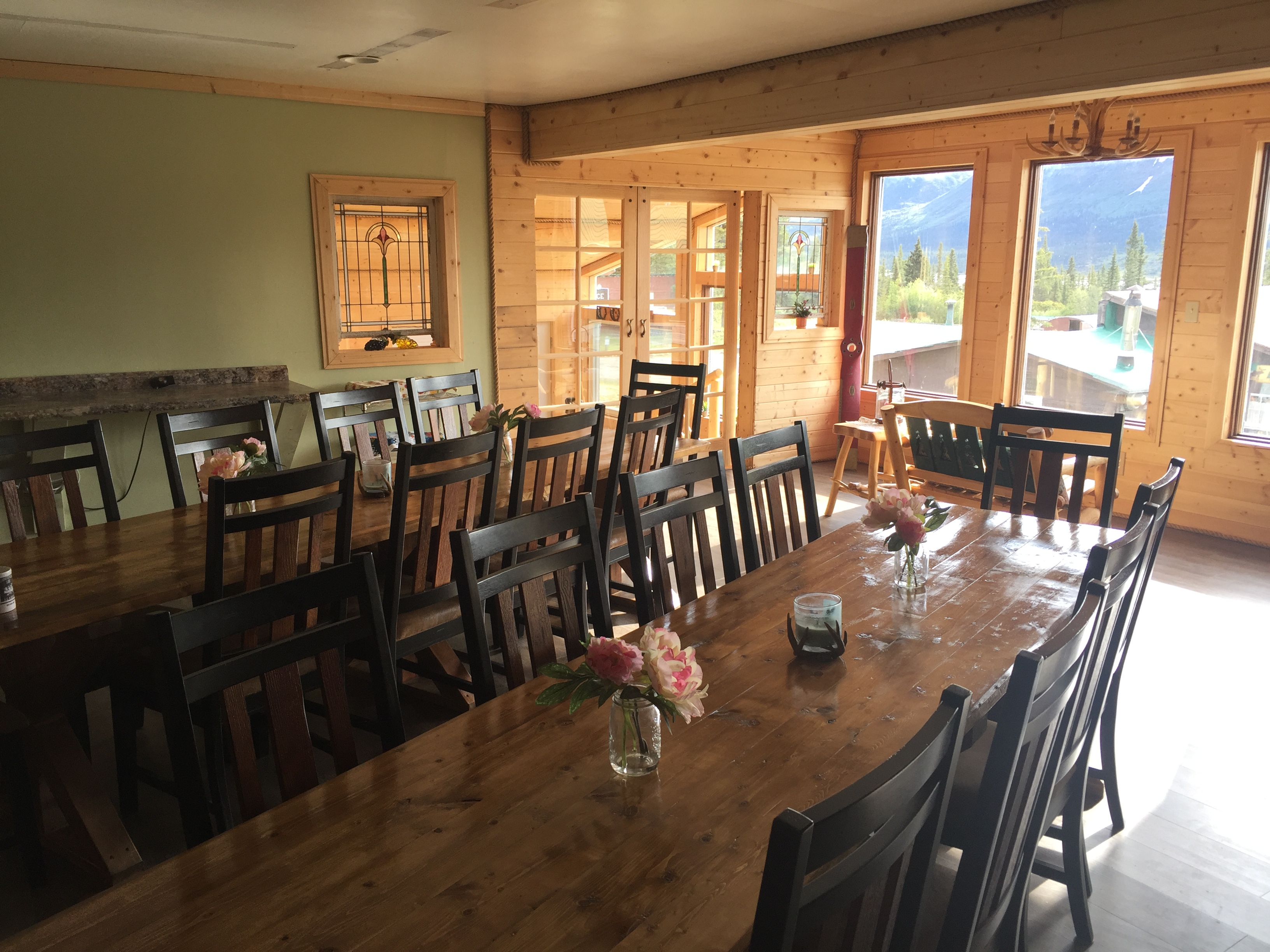 Dining with a view of Clearwater Mountain!